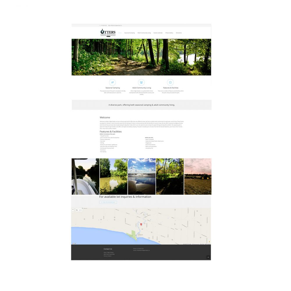 Blackcat Concepts Web Design Graphic Design - Otter Edge Estates